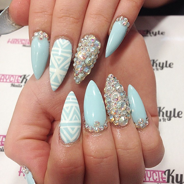 Download Pointy Nails Designs 2013 Wallpaper from the 573x768 resolutions This wallpaper comes from Nail Design directory and we focuse it on are pointy nails in style 2017 pointy nails with rhinestones